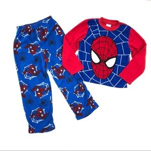 Spider-Man pjs boy pajamas set size 10 top pants